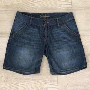 Earl Jean Women's Denim Cotton Lightweight Shorts